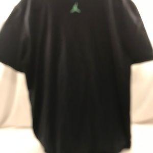 071923f27f8468 Jordan Shirts - Black and Neon Green Jordan T Shirt